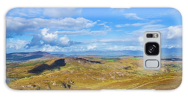 View Of The Mountains And Valleys In Ballycullane In Kerry Irela Galaxy Case by Semmick Photo