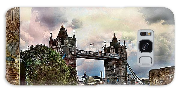 View Of The Tower Bridge From The Tower Galaxy Case by Karen McKenzie McAdoo