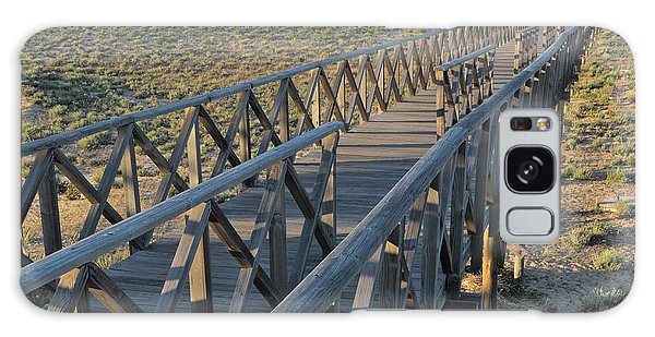 View Of The Wooden Bridge In Quinta Do Lago Galaxy Case by Angelo DeVal