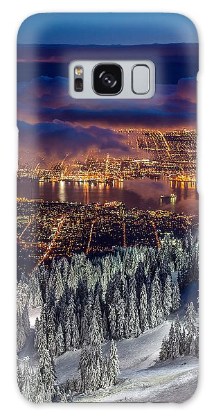 View Of Vancouver From Grouse Mountain At Sunset Galaxy Case