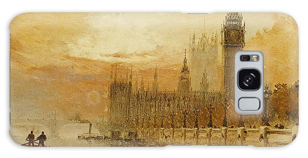 Houses Of Parliament Galaxy Case - View Of Westminster From The Thames by Claude T Stanfield Moore