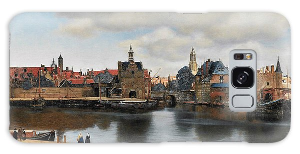 Jan Vermeer Galaxy Case - View On Delft by Jan Vermeer