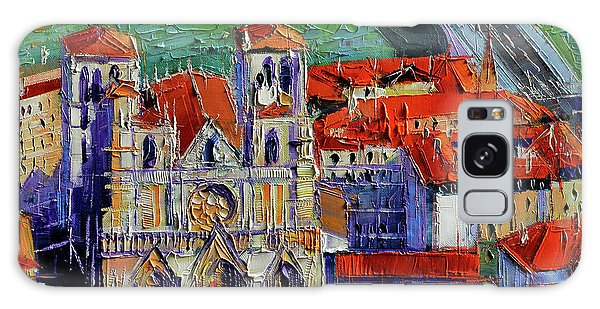 View Over Cathedral Saint Jean Lyon Galaxy Case