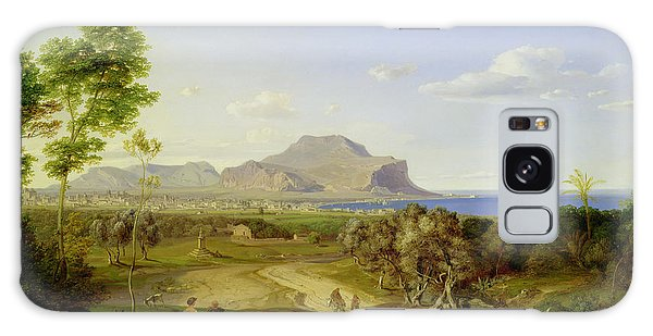 Islands In The Sky Galaxy Case - View Over Palermo by Carl Rottmann