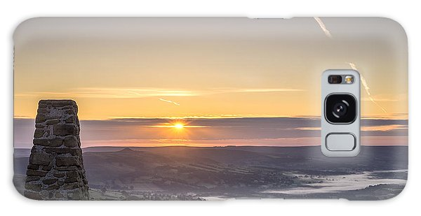 View Over The Hope Valley From Mam Tor At Dawn Galaxy Case