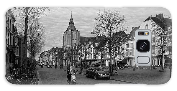 View To The Bosch Street In Maastricht Galaxy Case by Nop Briex