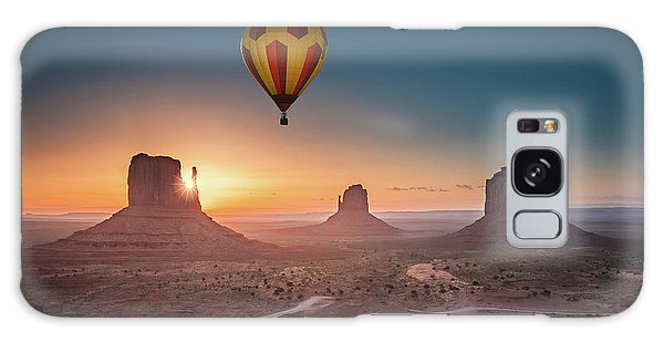 Viewing Sunrise At Monument Valley Galaxy Case