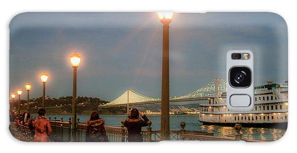Viewing The Bay Bridge Lights Galaxy Case