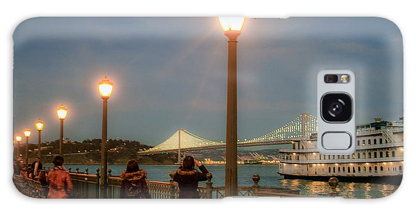 Viewing The Bay Bridge Lights Galaxy Case