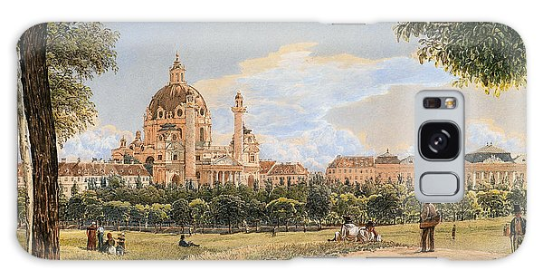 Art Institute Galaxy S8 Case - Views Of The Karlskirche And The Polytechnic Institute by Rudolf von Alt
