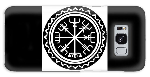 Galaxy Case featuring the digital art Viking Vegvisir Compass by Vagabond Folk Art - Virginia Vivier