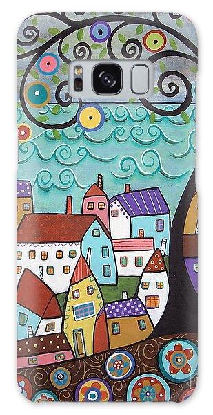 Seaside Galaxy Case - Village By The Sea by Karla Gerard