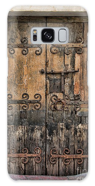 Village Chateau French Old Ancient Door Color  Galaxy Case