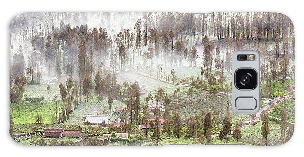 Village Covered With Mist Galaxy Case