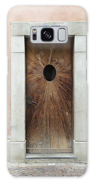 Village Door Surrounded By Peach Galaxy Case by Colleen Williams