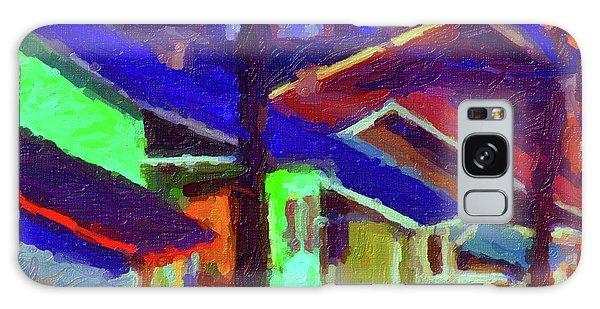 Village Houses Galaxy Case by Richard Farrington