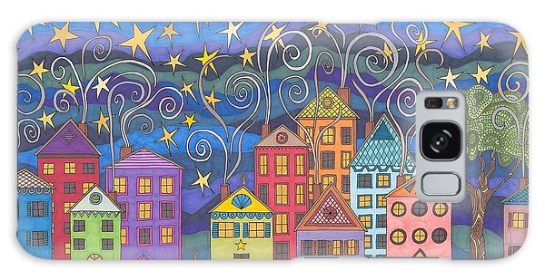 Village Lights Galaxy Case