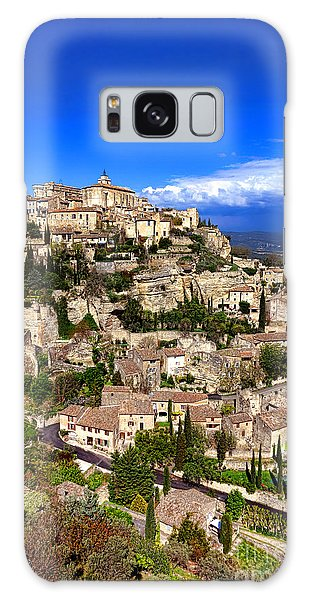 Village Of Gordes In Provence Galaxy Case by Olivier Le Queinec