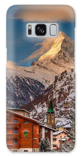 Village Of Zermatt With Matterhorn Galaxy Case