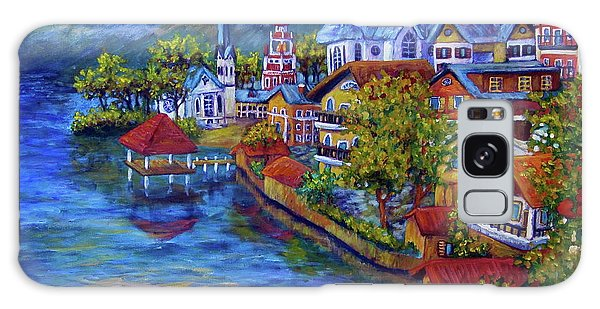 Village On The Lake Galaxy Case