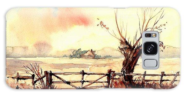 Sparrow Galaxy Case - Village Scene IIi by Suzann's Art