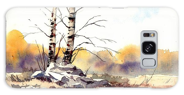 Sparrow Galaxy Case - Village Scene V by Suzann's Art