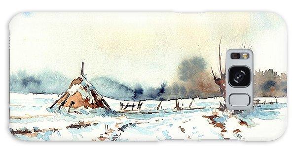 Sparrow Galaxy Case - Village Scene Vii by Suzann's Art
