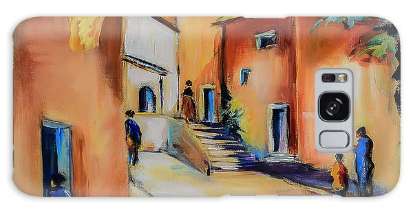 Village Street In Tuscany Galaxy Case