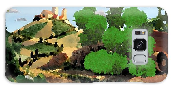 Village. Tower On The Hill Galaxy Case