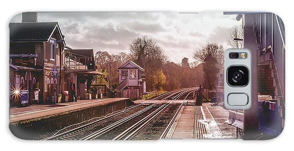 The Village Train Station Galaxy Case