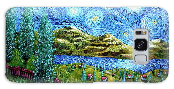 Village Under The Stars Galaxy Case