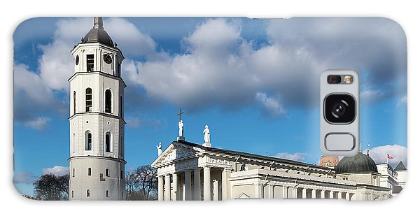 Galaxy Case - Vilnius Bell Tower And Cathedral by Steven Richman