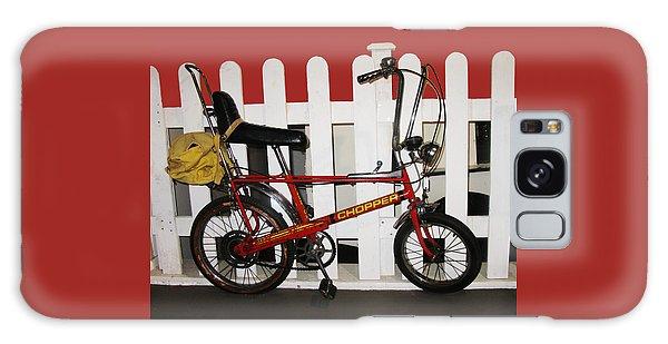 Vintage 1970s Bike With Rucksack  Galaxy Case