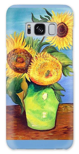 Vincent's Sunflowers Galaxy Case by Patricia Piffath