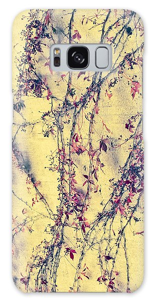 Vines On Yellow Wall Abstract Galaxy Case