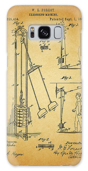 Vintage 1885 Exercising Device Patent Galaxy Case by Dan Sproul