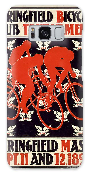 Vintage 1895 Springfield Bicycle Club Poster Galaxy Case by John Stephens