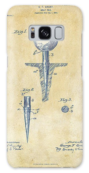 Vintage 1899 Golf Tee Patent Artwork Galaxy Case by Nikki Marie Smith