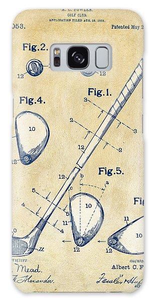 Vintage 1910 Golf Club Patent Artwork Galaxy Case