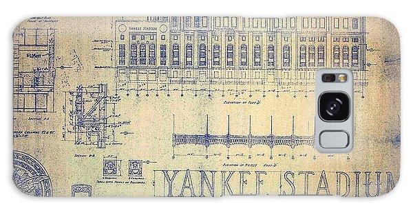 Vintage 1920s Art Deco Yankee Stadium Blueprint Galaxy Case