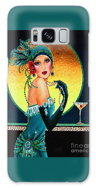Vintage 1920s Fashion Girl  Galaxy Case