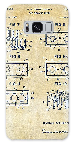 Vintage 1961 Lego Brick Patent Art Galaxy Case