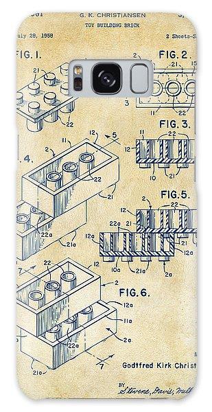 Vintage 1961 Toy Building Brick Patent Art Galaxy Case