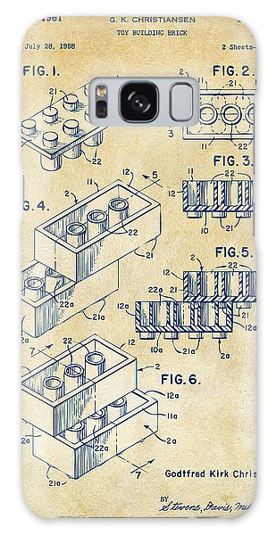 Vintage 1961 Toy Building Brick Patent Art Galaxy Case