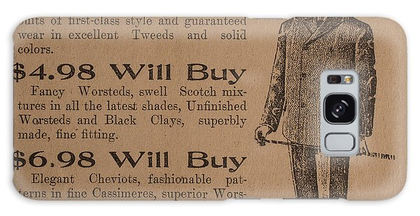 Paper Dress Galaxy Case - Vintage Ad For Men's Suits by Edward Fielding