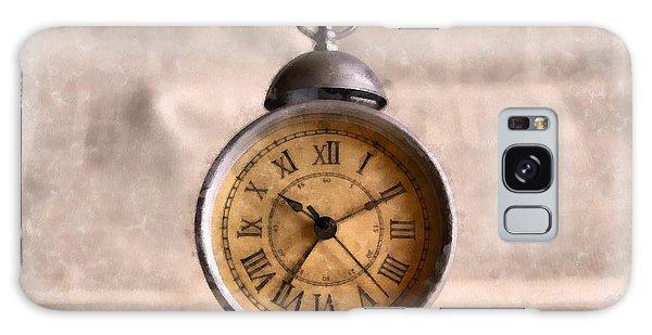 Clock Galaxy Case - Vintage Alarm Clock Watercolor by Edward Fielding