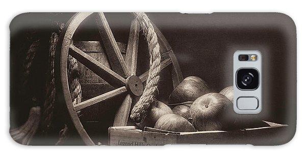 Faded Galaxy Case - Vintage Apple Basket Still Life by Tom Mc Nemar
