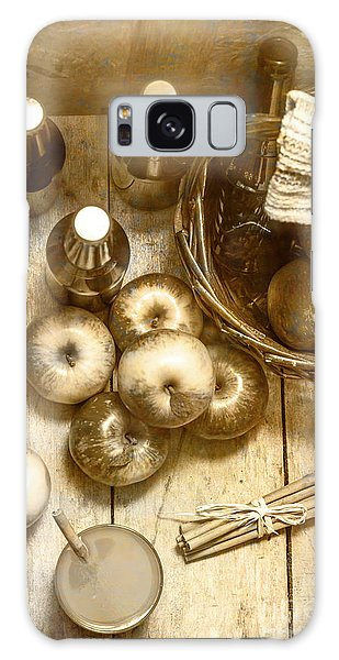 Picnic Table Galaxy Case - Vintage Apple Cider On Wood Crate by Jorgo Photography - Wall Art Gallery