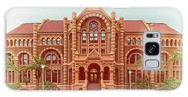 Vintage Architectural Photograph Of Ashbel Smith Old Red Building At Utmb - Downtown Galveston Texas Galaxy Case