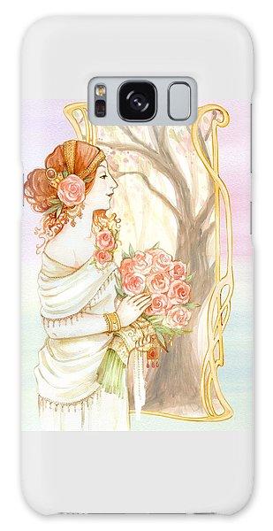 Vintage Art Nouveau Flower Lady Galaxy Case